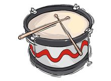 Snare drum. A vector image Vector snare drum illustration stock illustration