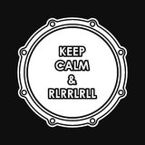 Snare Drum With Keep Calm And Rlrrlrll Inscription Royalty Free Stock Photos