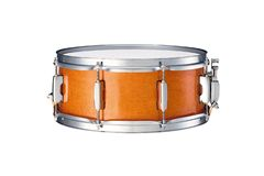 Snare drums. Wooden snare drum isolated over a white background Royalty Free Stock Photography