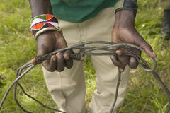 Snaring trap for animals in Tsavo National Park, Kenya, Africa Stock Photography