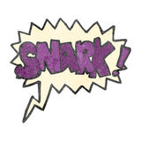 snark retro da banda desenhada dos desenhos animados! grito Imagem de Stock Royalty Free