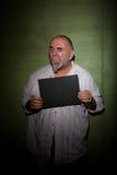 Snarling man in mugshot Stock Photos