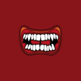 Snarling mouth Royalty Free Stock Photography