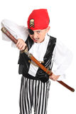 Snarling Pirate with sword Stock Image