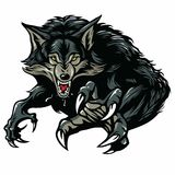Snarling Scary Werewolf. Vector Illustration Royalty Free Stock Photo