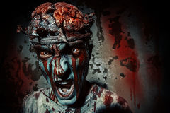 Snarling zombies Stock Image