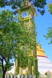 Snart Oo Ponya Shin Pagoda Clock Tower, Sagaing, Myanmar Arkivfoto