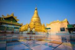 Snart Oo Ponya Shin Pagoda, Sagaing, Mandalay, Myanmar Royaltyfria Foton