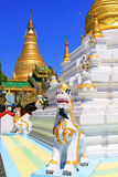 Snart Oo Ponya Shin Pagoda, Sagaing, Myanmar Royaltyfri Foto