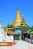 Snart Oo Ponya Shin Pagoda, Sagaing, Myanmar Arkivbilder