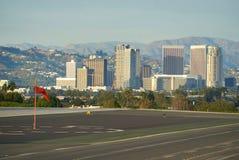 SNATA MONICA, KALIFORNIA usa - OCT 07, 2016: samolotu parking przy lotniskiem Obrazy Stock