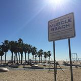 Snata Monica mięśnia plaża Fotografia Royalty Free