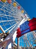 Snata Monica mola Pacyfik parka rozrywki przejażdżki Obraz Stock