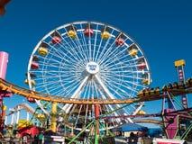 Snata Monica mola Pacyfik parka rozrywki przejażdżki Obrazy Royalty Free
