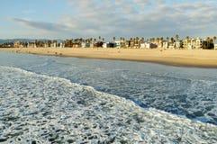 Snata Monica wybrzeże, Los Angeles obraz stock