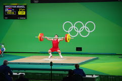Snatch by Arakel Mirzoyan at Rio2016 Stock Image