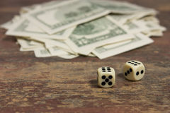 Snatch a large sum. On the image there is dice and many Stock Photos
