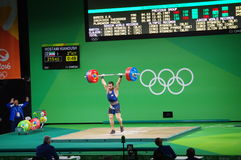 Snatch lifted by Kianoush Rostami at Rio2016 Stock Photos