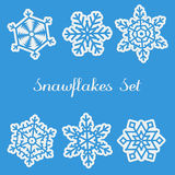 Snawflakes Set Stock Image