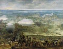 Snayers, EL Sitio de Breda, Ca del en de Peter - de Isabel Clara Eugenia 1628 foto de archivo libre de regalías