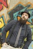 Snazzy Bearded Man Stock Photo