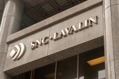 SNC Lavalin Head Office in Montreal stock photos