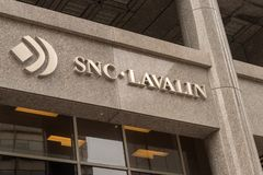 SNC Lavalin Head Office in Montreal stock photo