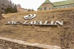 SNC Lavalin Logo in Montreal stock photography