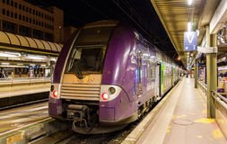 SNCF double-decker regional train Royalty Free Stock Photo