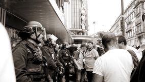 Free SNCF Employees Protest Workers On French Street Black And White Royalty Free Stock Photo - 119920475