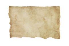 Sönderrivet gammalt nedfläckat papper med den snabba banan Royaltyfria Bilder