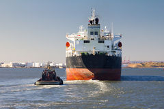 Sändningsfartyg i New York City Arkivbilder
