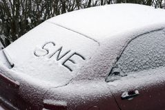 Sne on snow Royalty Free Stock Image