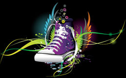 Sneaker abstract illustration Stock Images