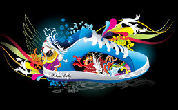 Sneaker abstract illustration Royalty Free Stock Photos