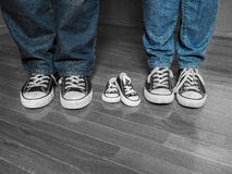 Sneaker Baby Announcement Royalty Free Stock Photo