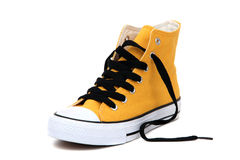 Sneaker with black latchet Royalty Free Stock Photo