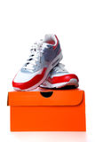 Sneaker with box Stock Photo