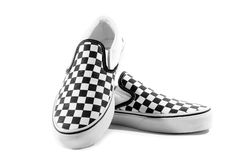 Sneaker checkboard shoe Royalty Free Stock Photo