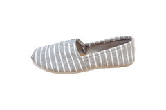 Sneaker, grey white strip color isolated background Stock Photography