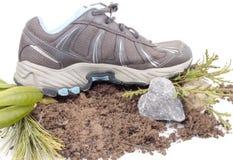 Sneaker With Heart Shape Rock Stock Photo
