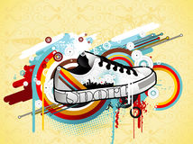 Sneaker illustration Royalty Free Stock Image
