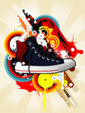 Sneaker illustration Royalty Free Stock Images