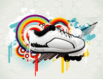 Sneaker illustration Stock Image