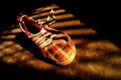 Sneaker in light and shade Royalty Free Stock Photo