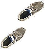 Sneaker pair. Isolated HDR Photo image of a pair of grungy old sneakers Royalty Free Stock Photography