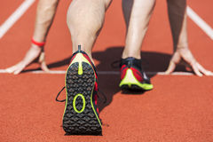 Sneaker runner start position Stock Image