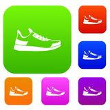 Sneaker set collection Royalty Free Stock Image