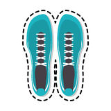 Sneaker shoes icon image Royalty Free Stock Image