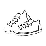 Sneaker shoes icon image Stock Images